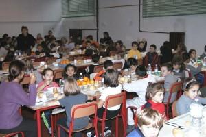 mensa scolastica - foto d'archivio