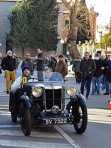 Marcello Spina al volante della sua MG Tipe del 1930 Rid
