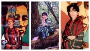 Aung San Suu Kyi in abiti tradizionali Chin