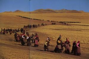 Nomadi tibetani Nomachi in Nagchu