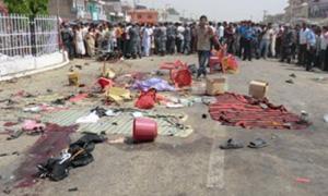 Il luogo della bomba esplosa a Janakpur