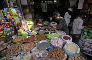 Tipico negozio emporio indiano