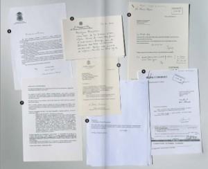 Alcuni dei documenti usati nel libro di Nuzzi