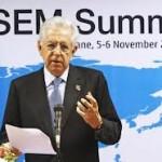 Mario Monti parla all'Asem