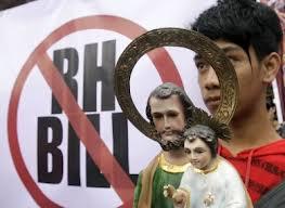 Immagini del Cristo usato per la campagna anti-contraccettivi
