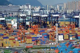 Container nel Porto di Hong Kong