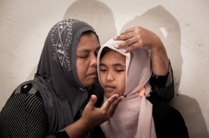 Jannah e sua madre Jamaliah