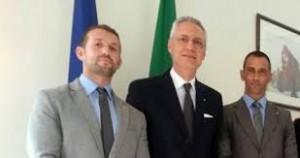 I maro' con l'ambasciatore Daniele Mancini