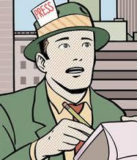 vignetta giornalista