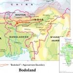 Mappa di Bodoland