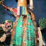 Una statua di Shugden dal volto feroce celato