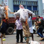 Pescatori del Kerala bruciano immagini dei due maro'