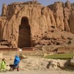 L'incavo nella roccia delle colline di Bamyan dove si erigeva uno dei Buddha fatti saltare dai Talebani con la dinamite nel 2001.