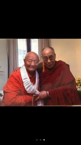 Namkhai Norbu e il Dalai lama