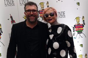 Jacopo Tonelli con Cecilia Matteucci alla festa di L'inde