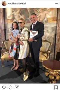 Cecilia Matteucci su Instagram con Jean Christophe Babin e Lucia Boscaini