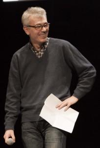 Alberto Ronchi alla premiazione degli Ubu