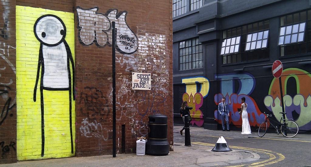 Un'opera del graffiti artist Stick