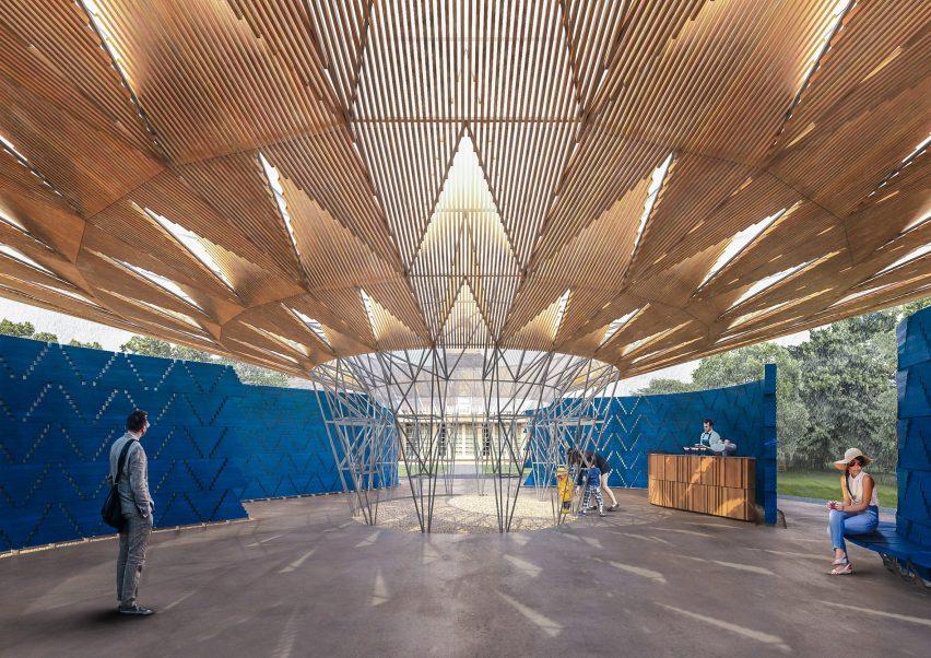 Il Serpentine Pavilion 2017, progettato da Francis Kéré