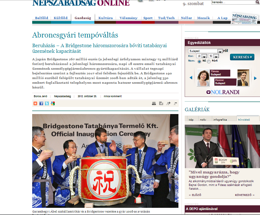 FOTO GIORNALE UNGHERESE