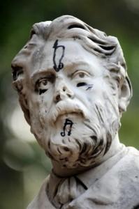 villa garibaldi statua