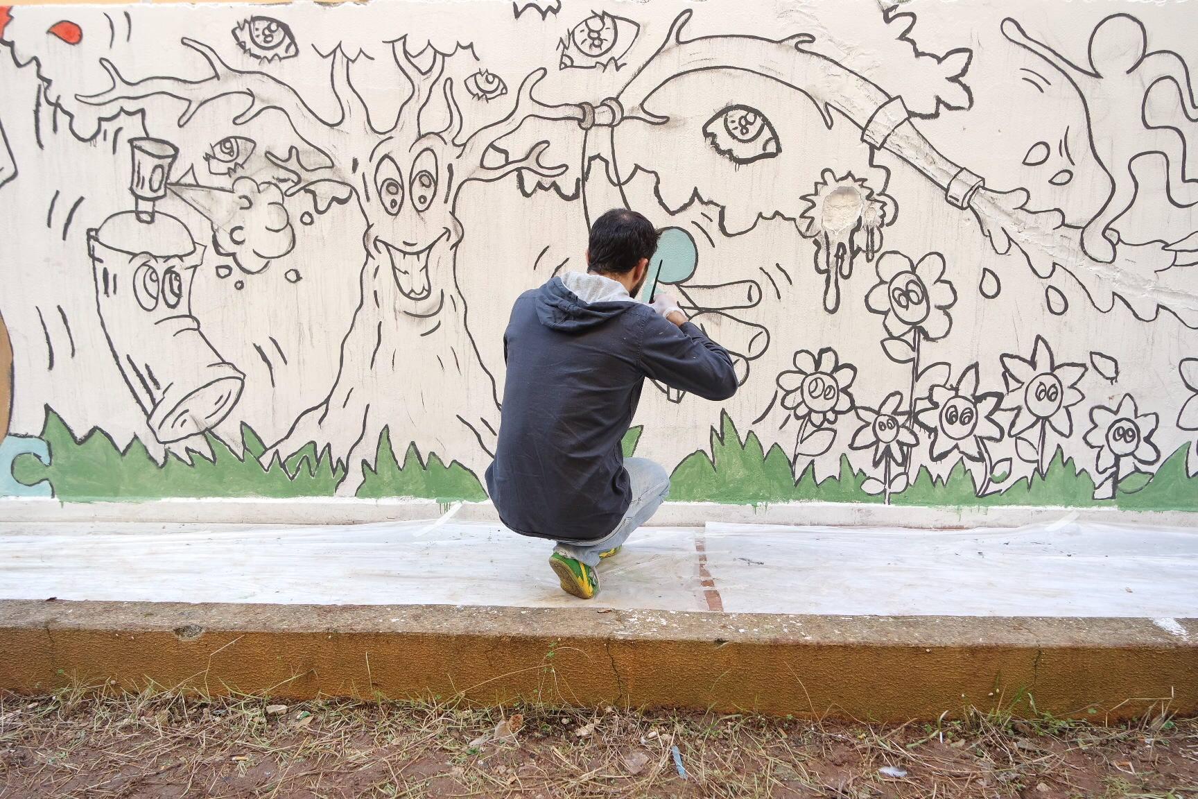 Disegni Murales Per Bambini.Murales Allo Zen Grazie Ai Disegni Dei Bambini Zoom Sulla