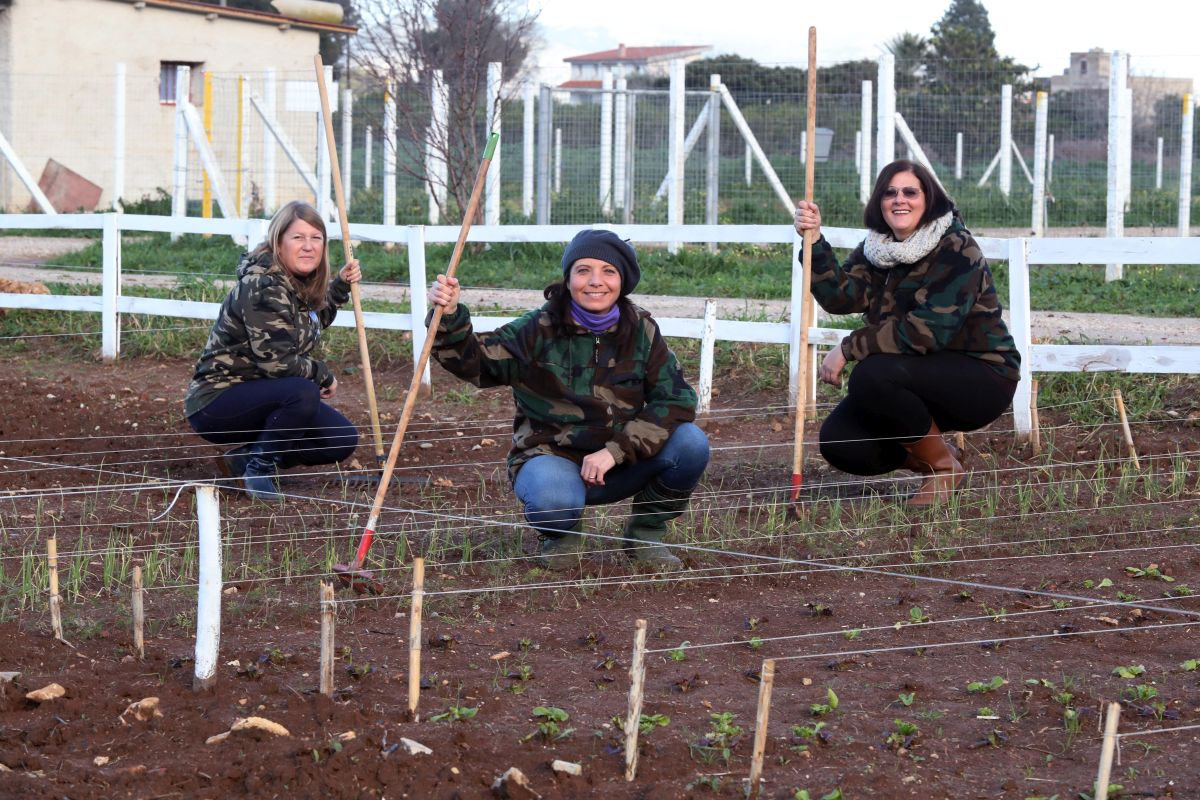 Tre disoccupate della formazione si trasformano in ortolane a Ciaculli