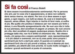 Si fa così di Franco Bolelli D la Repubblica 784 del 24 marzo