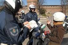 Vigili motociclisti in azione