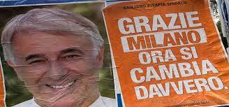 Uno dei manifesti della campagna elettorale di Giuliano Pisapia