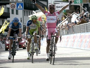 Lo sprint di Rodriguez a Cortina