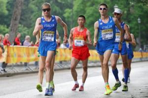 Alex Schwazer in gara ai mondiali di Roma 2016