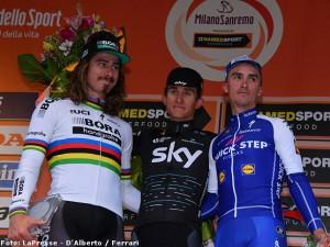 Il podio della Sanremo 2017