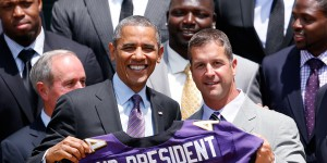 Obama Welcomes Super Bowl Champion Baltimore Ravens To White House