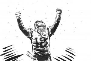 Brady nel disegno di Lorenzo Ruggiero per Repubblica