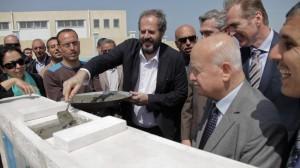 La posa della prima pietra della Scuola di Gaza