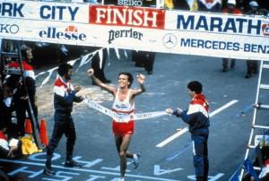 Gianni Poli vince la maratona di New York nel novembre 1986