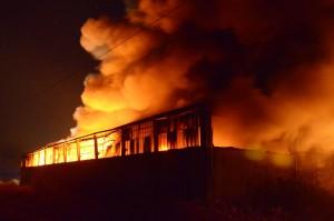 Giorgio Garbi - incendio in capannone tra corteolona e genzone
