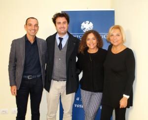 Trolese (secondo da sx) insieme al direttore Pieragnoli, alla presidente Grassini e alla funzionaria Fontanelli