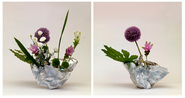 Ikebana in vaso FOIL - foto di proprietà di Tiziana Lorenzelli