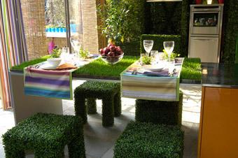 Particolare dell'allestimento del Kitchen Garden - Foto di Giorgio Majno