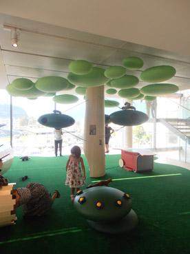 Un bosco per giocare al MUSE di Trento - foto di Patrizia Pozzi