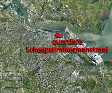 Quartiere Scheepstimmermanstraat - immagine da Google Earth