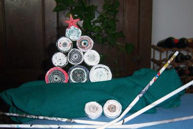 Alberello di Natale in carta riciclata di Anna Maria