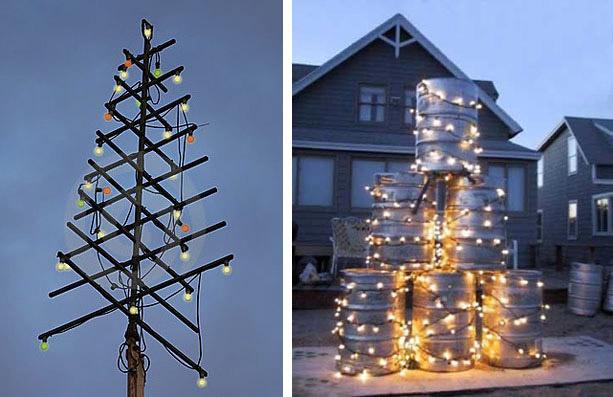 """Alberi di Natale...Outdoor! - da """"www.dreamstime.com"""" (foto a sinistra); da """"www.rescuehumor.com"""" (foto a destra)"""