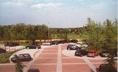 Un parcheggio nel paesaggio - Disegno di proprietà dello Studio Pozzi
