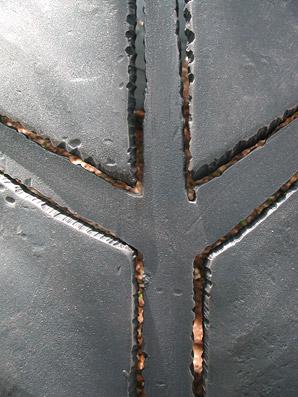 Dettaglio dell'opera di Simon Benetton - Foto di proprietà dello Studio Pozzi