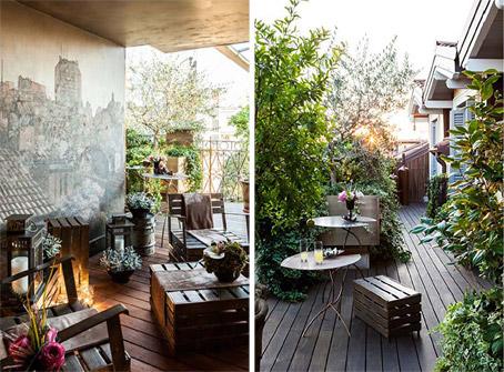 In diretta dallo studio pozzi arredare con la natura for Arredare terrazzi piccoli