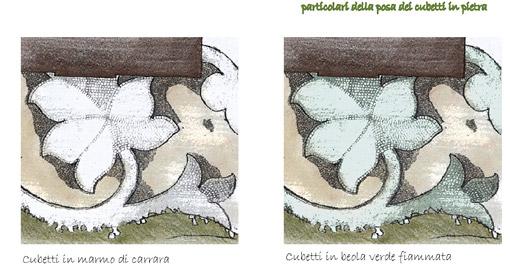 Studi per il parterre - Disegno di proprietà dello Studio Pozzi