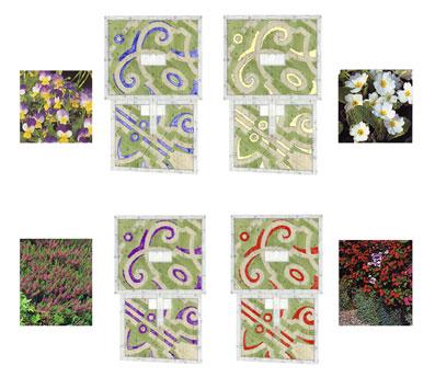 Fioriture per ogni stagione dell'anno - Disegno di proprietà dello Studio Pozzi